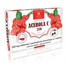 Acerola C 250, 30 tabletek do ssania