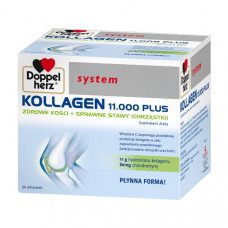Doppelherz System Kollagen 11000 PLUS, 30 ampułek x 25 ml