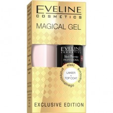 Eveline, Magical Gel lakier + top coat, zestaw