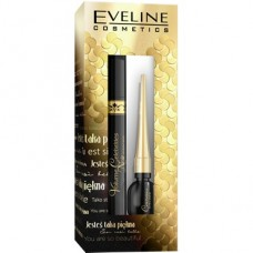 Eveline, Volume Celebrities Noir tusz do rzęs + eyeliner, zestaw