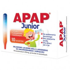 Apap Junior, 250 mg, granulat, saszetki