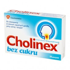 Cholinex bez cukru, 150 mg, 16 pastylek do ssania