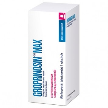 Groprinosin Max 250mg/ml, krople doustne, 30 ml