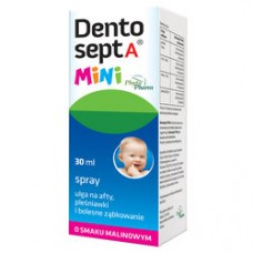 Dentosept A Mini, spray o smaku malinowym